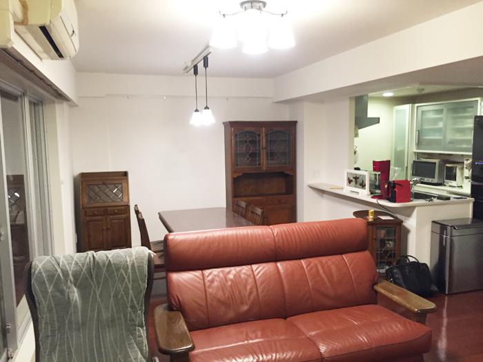 間仕切りをなくし、2部屋を1部屋にしました。和室から洋室になったことで広く、お洒落なお部屋になりました。