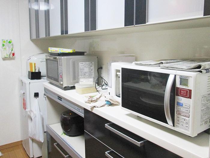 キッチンが見違えるほどスッキリ!物が溢れやすいキッチンこそ、大容量の収納を備えたものがいいですね!