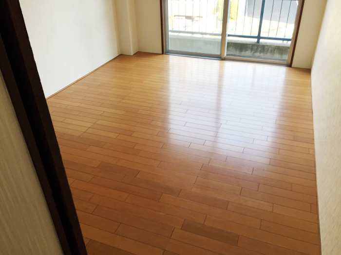 松戸市小根本 W様 アパート内装改修工事(クロス・床・襖・天井)